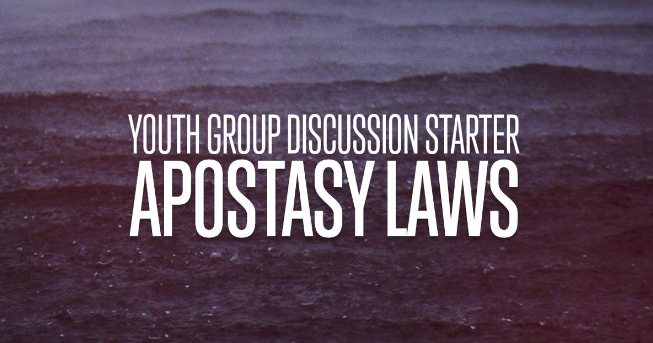 Discussion Starter: Apostasy Laws