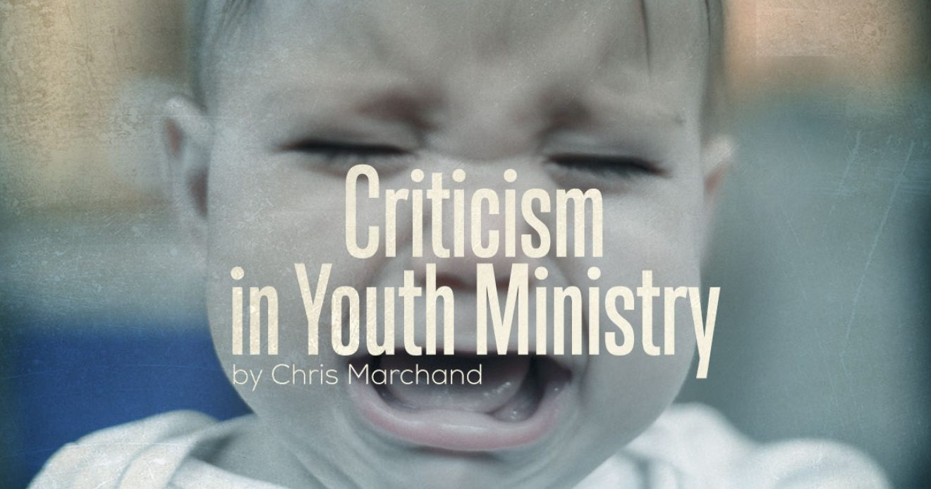 Criticism in Youth Ministry